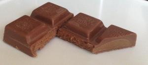 Milk chocolate with praline.