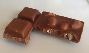 milk chocolate with hazelnut.